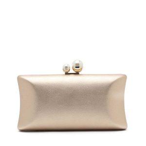 דגם סוזאן: תיק קלאץ' בצבע שמפניה