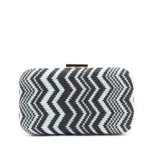 דגם רנה: תיק קלאץ' בצבע שחור ולבן