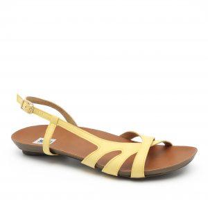 דגם ג'וליאנה: סנדלים טבעוניים בצבע צהוב