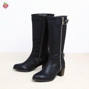 דגם גרייסלנד: מגפיים טבעוניים לנשים בצבע שחור - MIZU