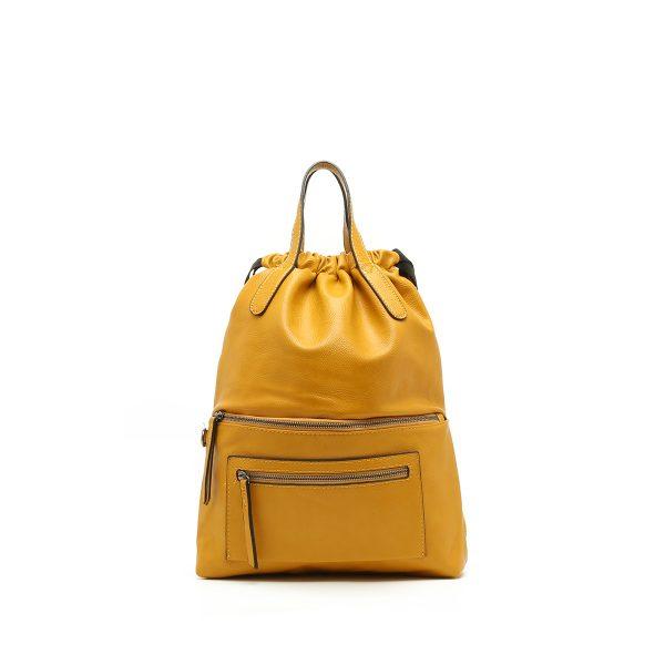 דגם נטלי: תיק גב לנשים בצבע צהוב