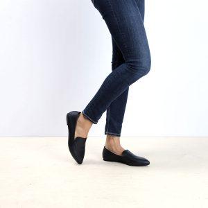 דגם לואיזיאנה: נעלי בובה לנשים בצבע שחור - B.unique