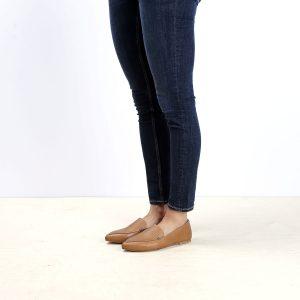 דגם לואיזיאנה: נעלי בובה לנשים בצבע קאמל - B.unique
