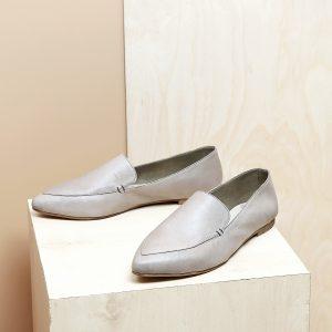 דגם לואיזיאנה: נעלי בובה לנשים בצבע אבן - B.unique
