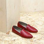 דגם לואיזיאנה: נעלי בובה לנשים בצבע אדום - B.unique