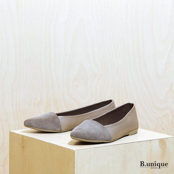 דגם בלייר: נעלי סירה לנשים בצבע אבן - B.unique