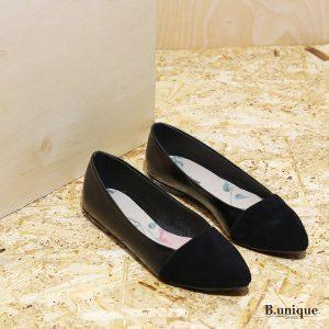 דגם בלייר: נעלי סירה לנשים בצבע שחור - B.unique