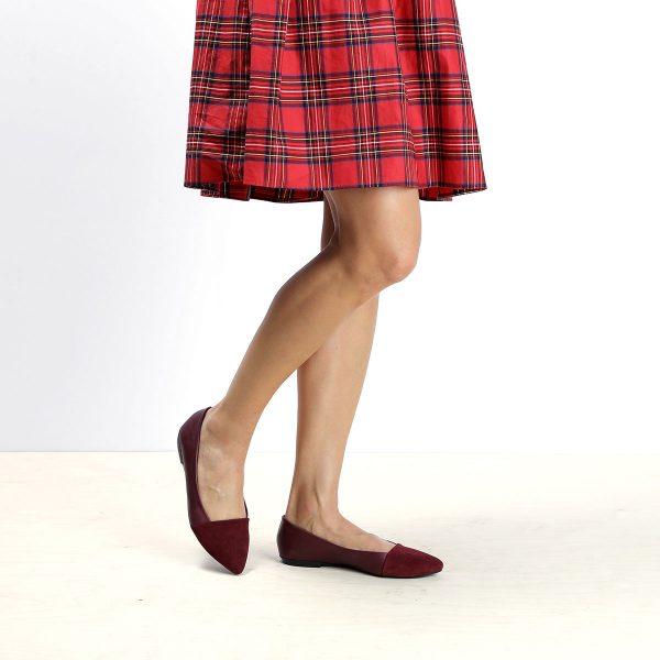 דגם בלייר: נעלי סירה לנשים בצבע בורדו - B.unique