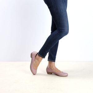 דגם: בוקרשט נעלי בובה לנשים בצבע ורוד - B.unique