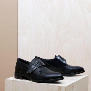 דגם פנמה: נעלי אוקספורד לנשים בצבע שחור - B.unique