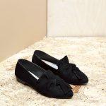 דגם טקסס: נעלי סירה טבעוניות בצבע שחור – MIZU