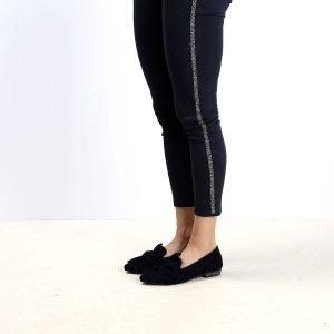 דגם מיקונוס: נעלי זמש בצבע שחור - B.unique
