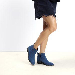 דגם סלבדור: מגפוני זמש לנשים בצבע ג'ינס – B.unique