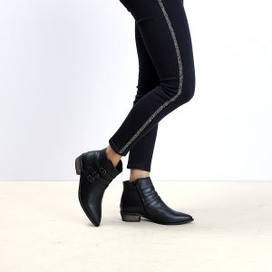 דגם מונטנה: מגפונים לנשים בצבע שחור - B.unique