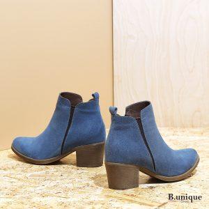 דגם פלורנס: מגפון זמש כחול לנשים - B.unique
