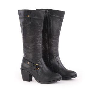 דגם סן פרנסיסקו - מגפיים לנשים בצבע שחור – B.unique