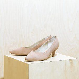 דגם ג'רזי: נעלי עקב בצבע ורוד - B.unique