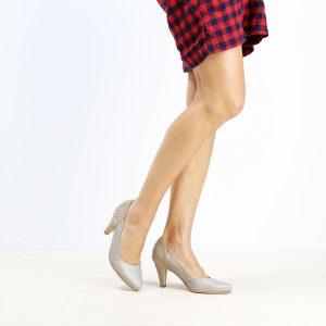 דגם בוסניה: נעלי עקב בצבע אבן - B.unique