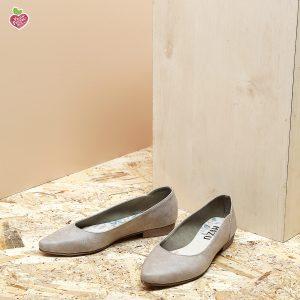 דגם מקסיקו: נעלי סירה טבעוניות בצבע טאופ - MIZU