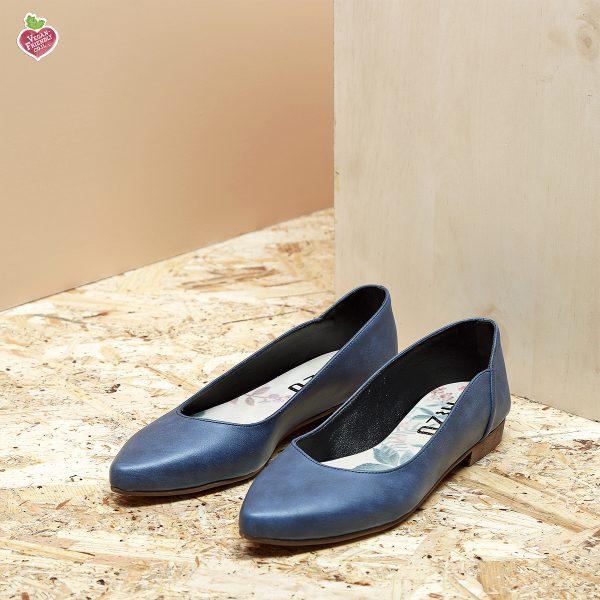 דגם מקסיקו: נעלי סירה טבעוניות בצבע כחול - MIZU