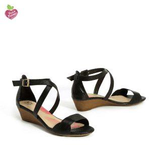 דגם איריס: נעלי עקב טבעוניות בצבע שחור - MIZU
