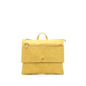 דגם עינת: תיק גב לנשים בצבע צהוב