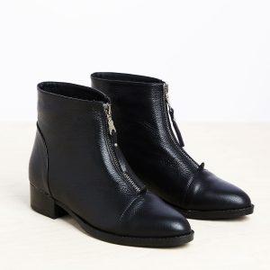 בלעדי לאתר - דגם אשלי: מגפונים לנשים בצבע שחור – B.unique