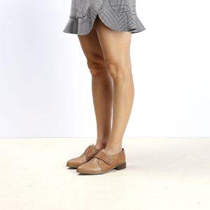 דגם פנמה: נעלי אוקספורד לנשים בצבע קאמל - B.unique