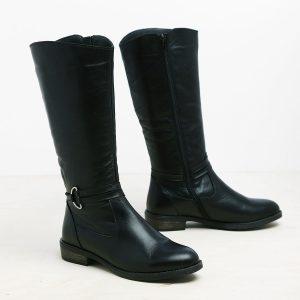 בלעדי לאתר - דגם סידני: מגפיים לנשים בצבע שחור - B.unique
