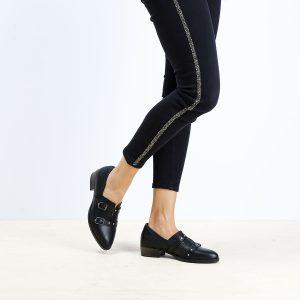 בלעדי לאתר - דגם ציריך: נעלי אוקספורד לנשים בצבע שחור - B.unique
