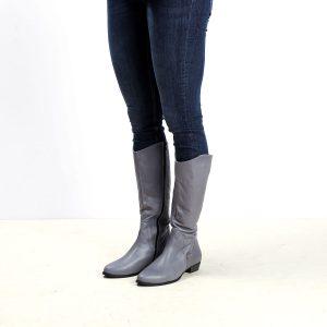 דגם ברלין: מגפיים לנשים בצבע אפור - B.unique