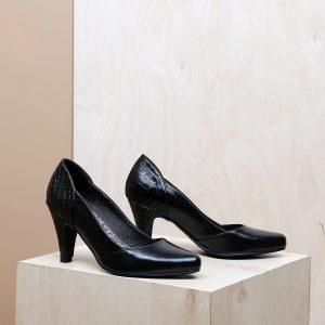דגם סן דייגו: נעלי עקב בצבע שחור - B.unique