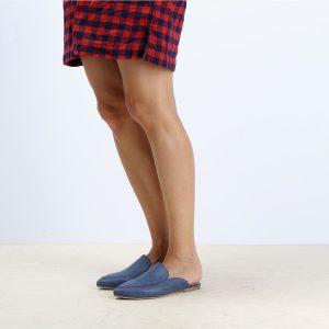 דגם בלפור: כפכפים טבעוניים בצבע כחול - MIZU