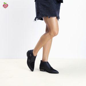 דגם מישיגן: מגפונים טבעוניים לנשים בצבע שחור – MIZU