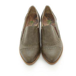 דגם פירנצה: נעלי אוקספורד טבעוניות בצבע ירוק זית - MIZU