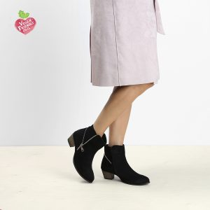 דגם וינה: מגפונים טבעוניים לנשים בצבע שחור - MIZU