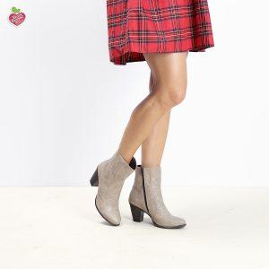 דגם דנוור: מגפוני עקב טבעוניים לנשים בצבע טאופ – MIZU