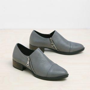 בלעדי לאתר - דגם מנדי: נעליים בצבע אפור – B.unique
