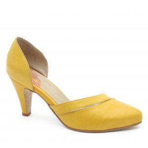 דגם אוליביה: נעלי עקב בצבע צהוב