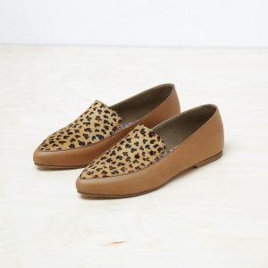 דגם לואיזיאנה: נעלי בובה לנשים בצבע קאמל מנומר - B.unique