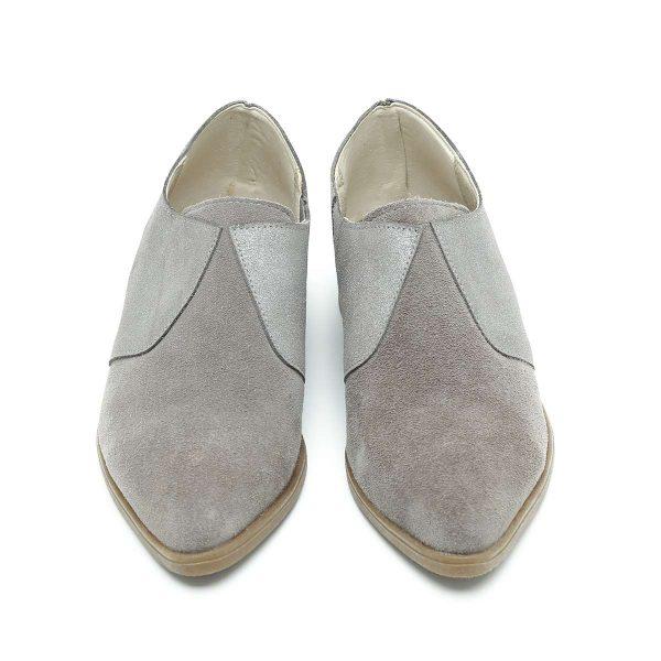 בלעדי לאתר - דגם ניו יורק: נעלי אוקספורד בצבע אפור