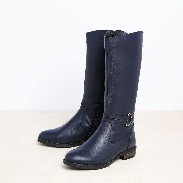 בלעדי לאתר - דגם סידני: מגפיים לנשים בצבע כחול- B.unique