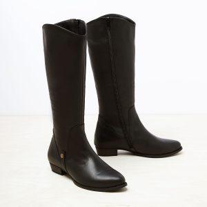 דגם ברלין: מגפיים לנשים בצבע שחור - B.unique