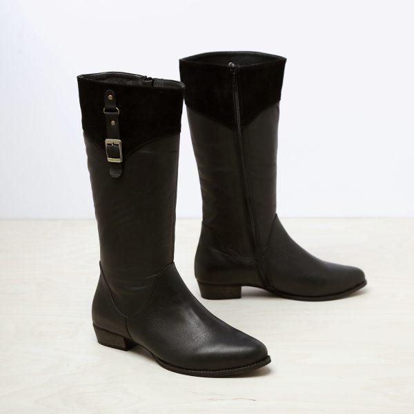 דגם מיטשל: מגפיים לנשים בצבע שחור – B.unique