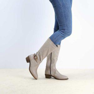 דגם פיניקס: מגפיים לנשים בצבע טאופ – B.unique