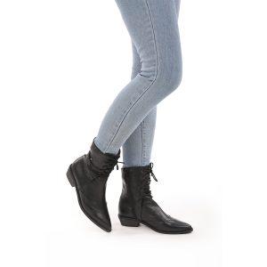דגם וושינגטון: מגפונים מעור לנשים בצבע שחור – B.unique