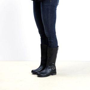 דגם אוסטין: מגפיים מעור לנשים בצבע שחור – B.unique