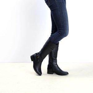 דגם איסלנד: מגפיים לנשים בצבע שחור – B.unique