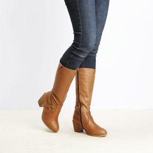 דגם סן פרנסיסקו - מגפיים לנשים בצבע קאמל – B.unique