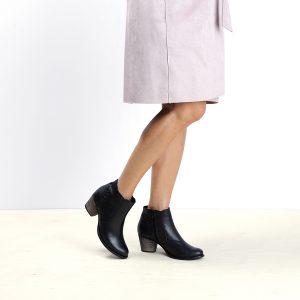 דגם בוליביה: מגפונים לנשים בצבע שחור - B.unique